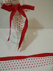 LOVELY DOTTY DUO Red & White Dots / Red Grosgrain - Luxury Wire Edged Ribbon