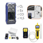 4 in 1 Gas Detector CO O2 H2S EX Monitoring  Tester+ Gas Sampling External Pump