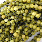 "Faceted Yellow Turquoise Round Beads Gemstone 15"" Strand 4mm 6mm 8mm 10mm 12mm"