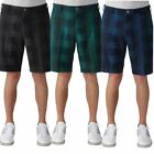 New Adidas Golf Men's Ultimate Competition Plaid Golf Shorts U Pick Size