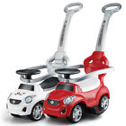 Kids Push Stroller & Pedal Scooting Wagon Baby Toddler Ride On Toy Car Red White