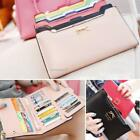 Women PU Leather Bowknot Clutch Wallet Long Purse Card Holder Coin Case B20E 01