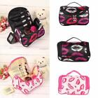 Cosmetic Bag Makeup Organizer Zipper Handbag Lip Print Travel Toiletry B20E 01