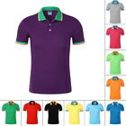 New Mens' Shirt Short Sleeve Cotton T-Shirt Casual Breathable Turn-down Top