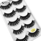 5 Pairs Pack 3D Mink False Eyelashes Wispy Cross Long Thick Soft Fake Eye Lashes