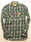 Superdry Men's Green Multi The Lumberjack Twill Long Sleeve Button Down Shirt