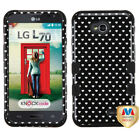 TUFF Hybrid Phone Protector Cover for LG MS323 (L70) LG VS450PP (Exceed 2)