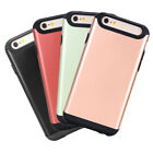 Shockproof Slim Hybrid Hard Rugged Cover Wallet Case for Apple iPhone 6