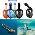 New SWIMMING Full Face 180 Degree Vision Snorkel Mask for Action Camera S/M L/XL