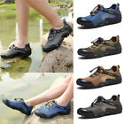 Outdoor Men Sneakers Breathable Hiking Shoes Mesh Walking Sports Trainers Hiking