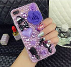 Bling Crystal Diamond Dream Pearl Rose comb Mirror Hard Clear Phone Case Cover