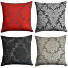 """Downtown Floral Cushion Cover Luxury Flock Filigree Cushion Covers 18"""" x 18"""""""