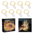 8pcs 20 LED Fairy String Lights Starry Rope Copper Wire Lights Battery Operated