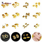 Fashion 316L Stainless Steel Gold Earrings Set Stud Earring Women Girl Best gift