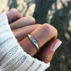 2018 Fashion Vintage Sterling Silver Mom Letter Ring Mother's Day Size6-10 Gifts