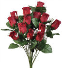 Внешний вид - 14 Roses Buds ~ MANY COLORS ~ Silk Flowers Bridal Bouquets Wedding Centerpieces