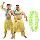 MENS ZULU WARRIOR WITH LEI 6 PC SET HAWAIIAN TRIBE FANCY DRESS AFRICAN TRIBAL