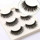 3/5 Pairs Make Up 3D Natural Soft Handmade Thick Long Cross False Fake Eyelashes