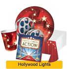 Hollywood Lights Range Tableware Balloons Decorations Supplies - CP
