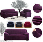 UK Hot 1 2 3 4 Seater L Shape Sofa Cover Plush Stretch Protector Couch Slipcover