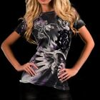 Remetee PANTHER Womens Top T-Shirt S M L NWT NEW Purple Black