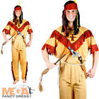 Native Indian Mens Fancy Dress Western Adults Dress Up Indians Costume Outfit