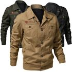 New Fashion Mens Casual Denim Air Force Cotton-padded Coats Jeans Jackets