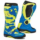 TCX Comp Evo Michelin Mens Offroad MX Boots Royal Blue/Fluo Yellow