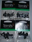 TRIMITS SOLID BLACK SAFETY/TOY EYES - 6mm/9mm/12mm/15mm - TOYMAKING/CRAFTS