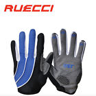 Bicycle Cycling Bike Full Finger Padded Gloves Blue