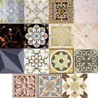 10Pcs Self Adhesive PVC Square Mirror Tile Wall Stickers 3D Decal Home Decor DIY