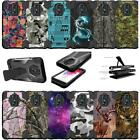 For LG K20 V | K20 Plus | LG Harmony Shockproof Dual Layer Bumper Cover - Camo