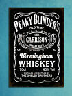 Metal plaques vintage style Peaky Blinders whiskey tin wall shed bar signs