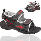Kids Boys Infant Casual Slippers Ankle Dual Touch Strap Sports Sandals UK 12-2
