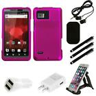 For Motorola Droid Bionic XT875 Snap-On Hard Case Phone Skin Accessory Combo