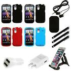 htc amaze cases - For HTC Amaze 4G Rigid Plastic Hard Snap-On Case Phone Cover Combo