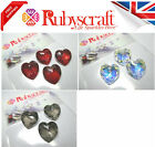 4pcs Authentic Swarovski 6215 18mm Heart Pendants - Please select colour