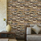 1M 3D Wall Sticker Brick Stone Rustic Effect Self-adhesive Wall Paper Home Decor