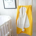 Cute Rabbit Soft Blanket Baby Toddler Warm Knit Sleeping Quilt Swaddle Cover