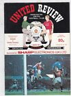 MANCHESTER UTD HOME PROGRAMMES 1990/91 WITH TOKENS REMOVED CHOSE FROM DROP DOWN
