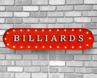 39 BILLIARDS Pool Table Hall Play Vintage Rustic Metal Marquee Light Up Sign