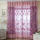 Flower Tulle Door Window Curtain Drape Panel Sheer Scarf Valances 4 Colors US
