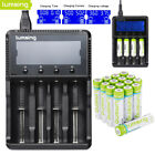 Ni-MH AA AAA 1100/2500/2850mAh Batteries w/ 4-Slots Battery Charger Speedy