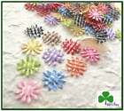 "150 pc x 3/4"" Mix 10-Color Padded Gingham Cotton Sunflower/Daisy Appliques ST150"