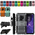"For Samsung Galaxy S9 Plus/ S9+ 6.2"" Color Hybrid Stand Holster Case Cover"