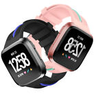For Fitbit Versa Smart Watch!Colorblock Silicone Rubber Bracelet Wristband Strap