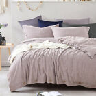 Button Bedclothes Flax Linen Duvet Cover Solid Bed Linen Bed Bedding Set King