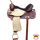 U-D-VX Hilason Western Flex Tree Barrel Racing Trail Riding Horse Saddle Mahogan