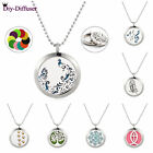 1pc 25mm Aroma Necklace Stainless Steel Essential Oil Diffuser Locket 10pad New