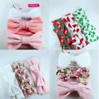 3pcs Newborn Headband Cotton Elastic Baby Print Floral Hair Band Girls Bow knot